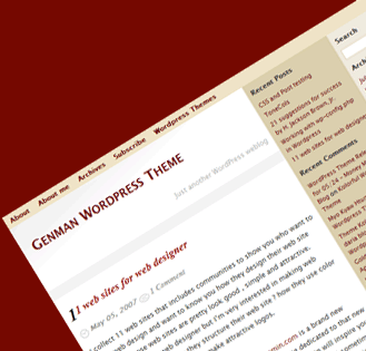 Genman WordPress Theme