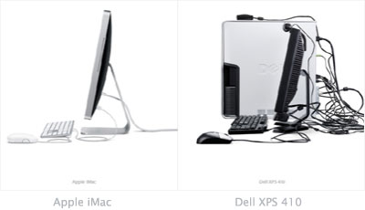 Apple iMac and Dell XPS 410
