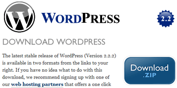 Download WordPress 2.2