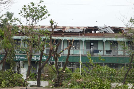 school destroyed by Nargis